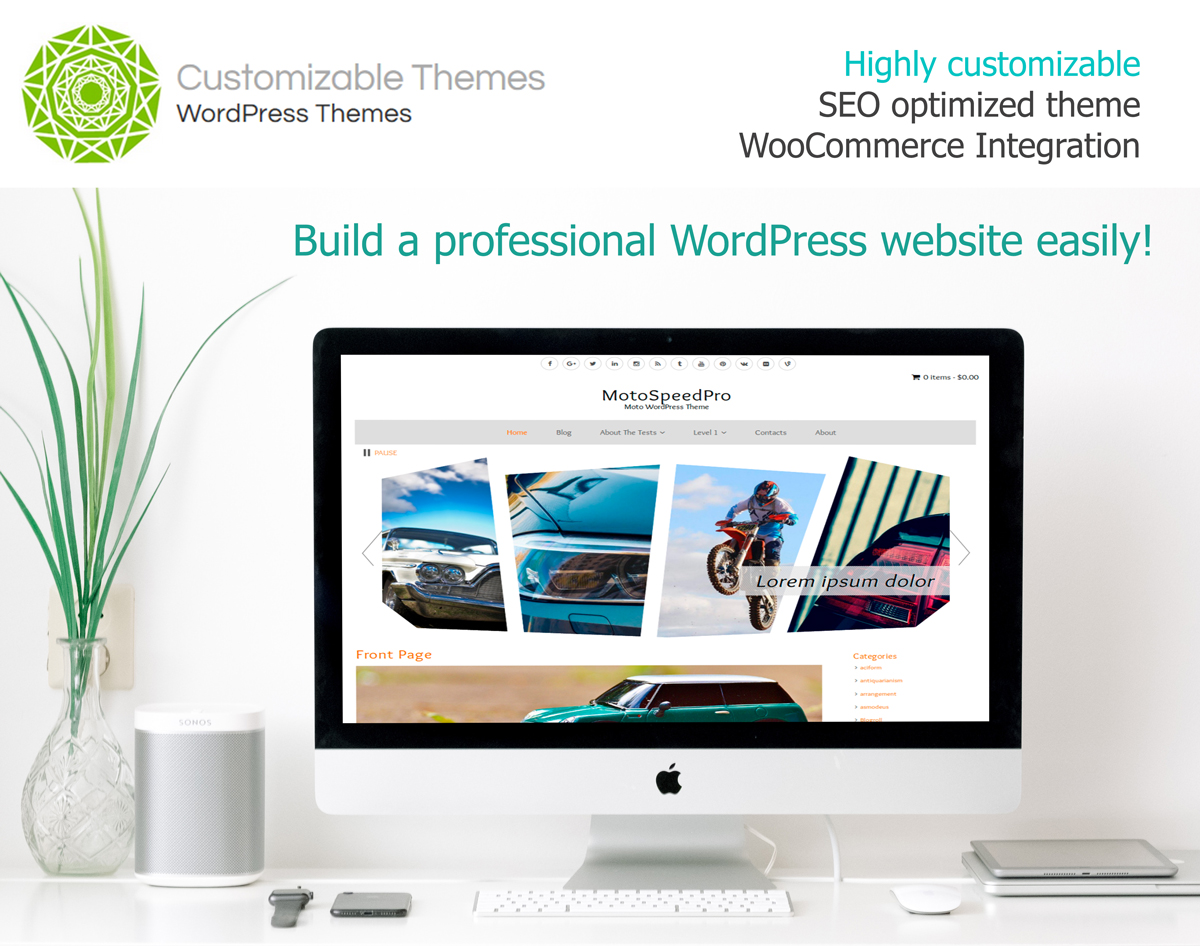 MotoSpeedPro WordPress Theme mockup