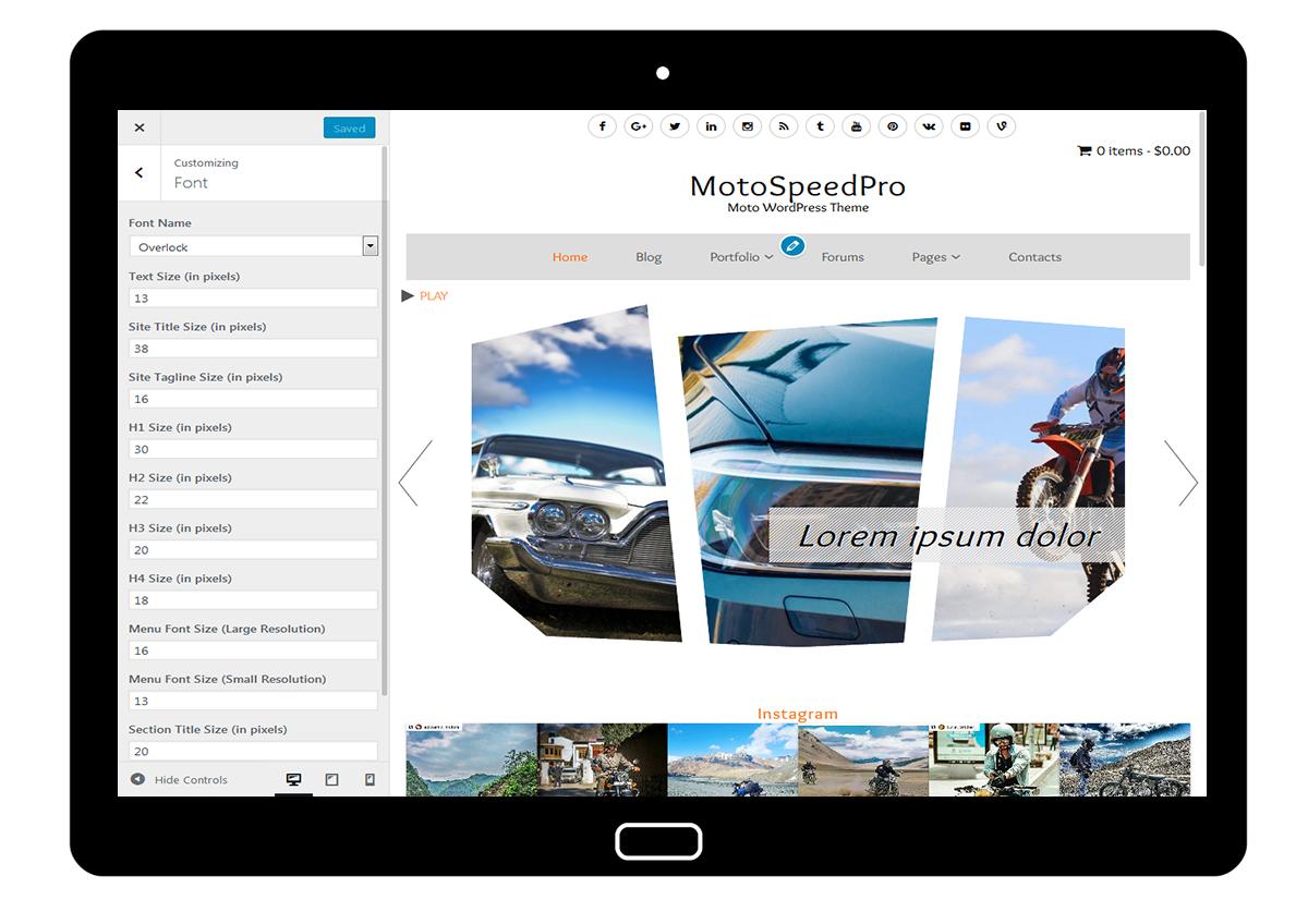 MotoSpeedPro Customize: Font