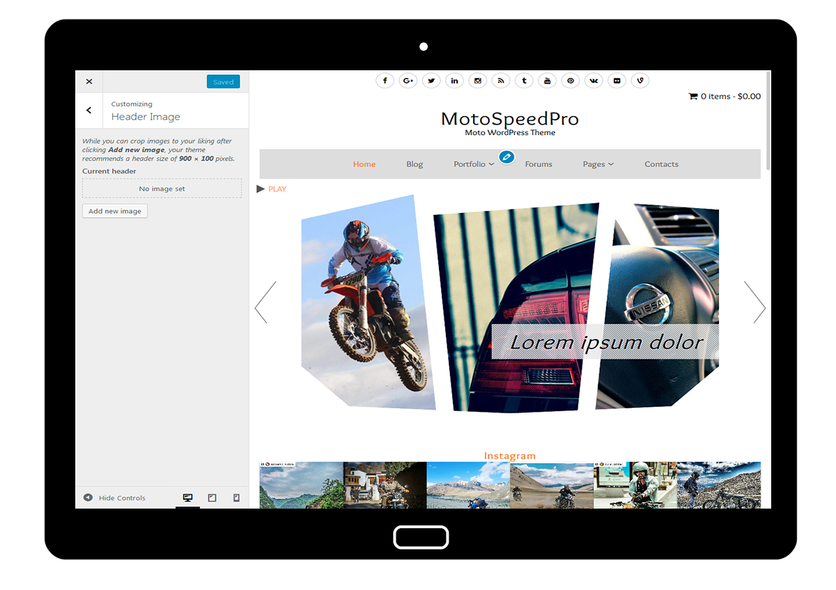 MotoSpeedPro Customize: Header Image