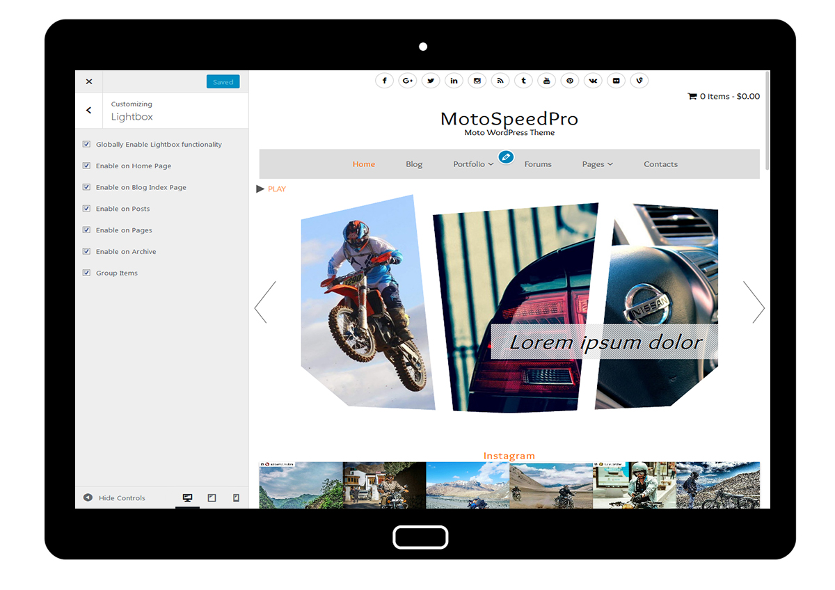 MotoSpeedPro Customize: Lightbox