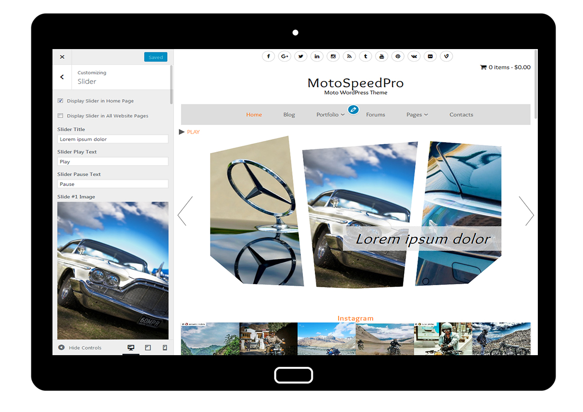MotoSpeedPro Customize: Slider