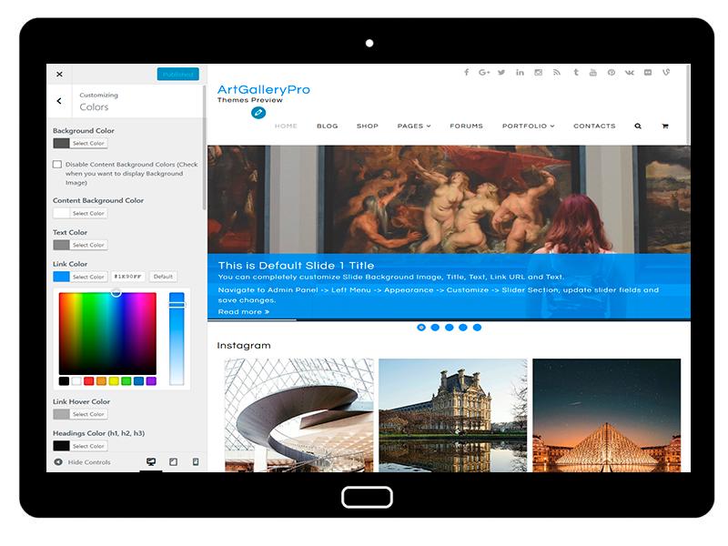 customizablethemes-tablet-mockup-black-ArtGallery-Customizing-Colors