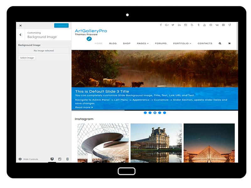 customizablethemes-tablet-mockup-black-ArtGalleryPro-Customizing-BackgroundImage