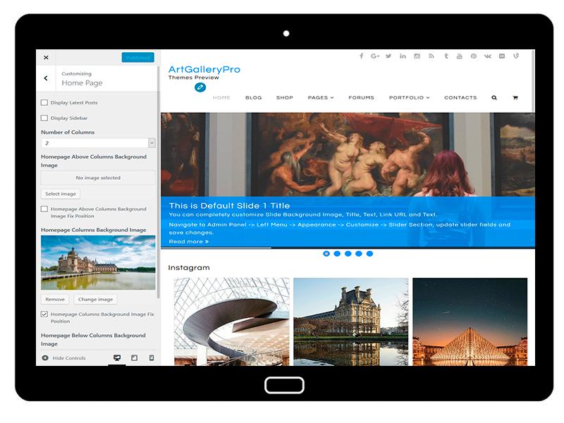 customizablethemes-tablet-mockup-black-ArtGalleryPro-Customizing-HomePage