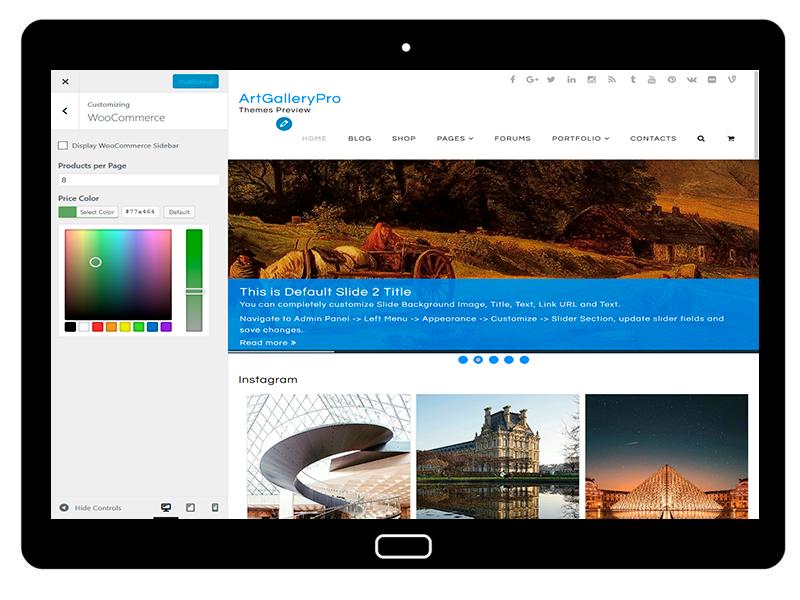 customizablethemes-tablet-mockup-black-ArtGalleryPro-Customizing-WooCommerce