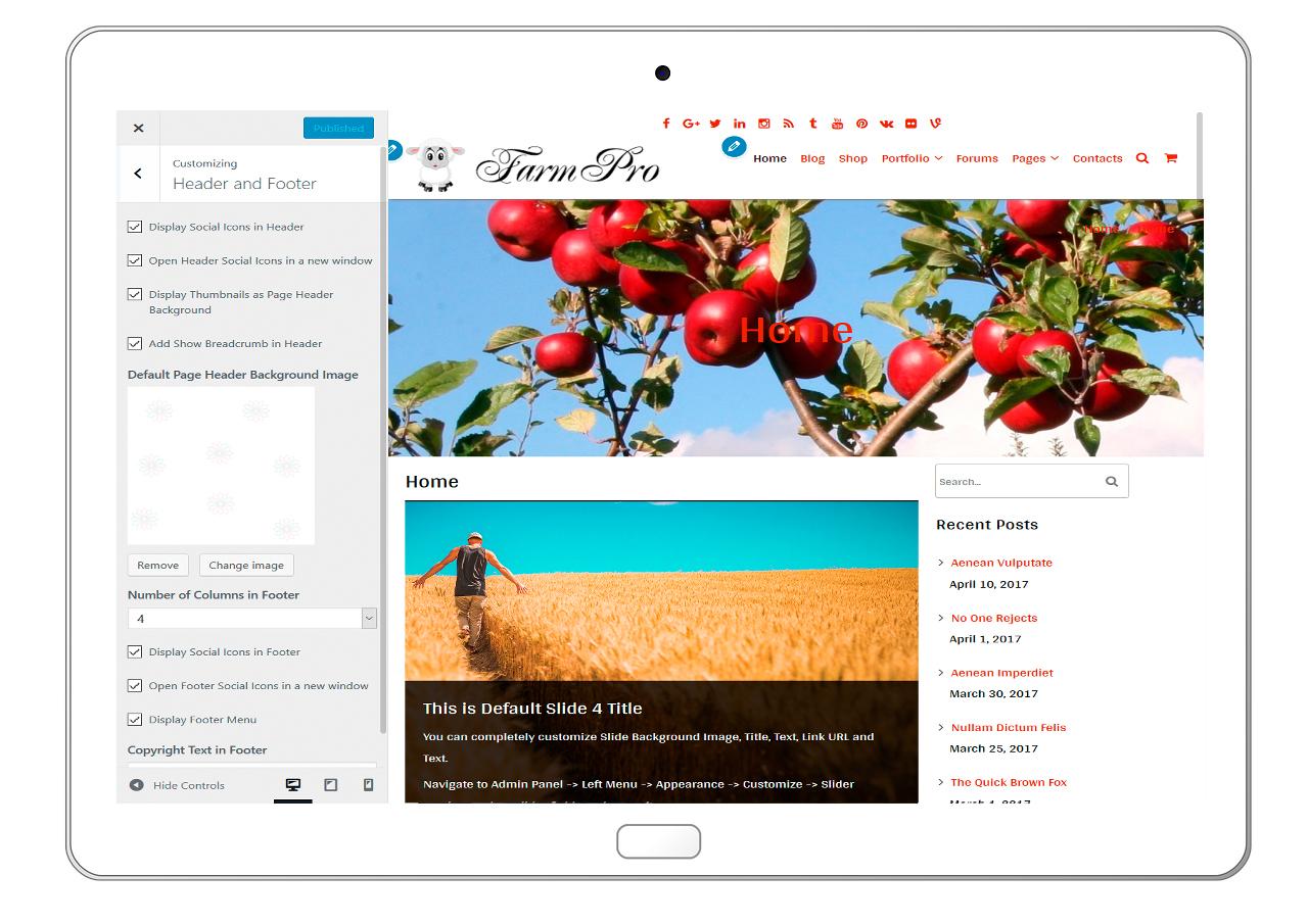 FarmPro-customizing-header-and-footer