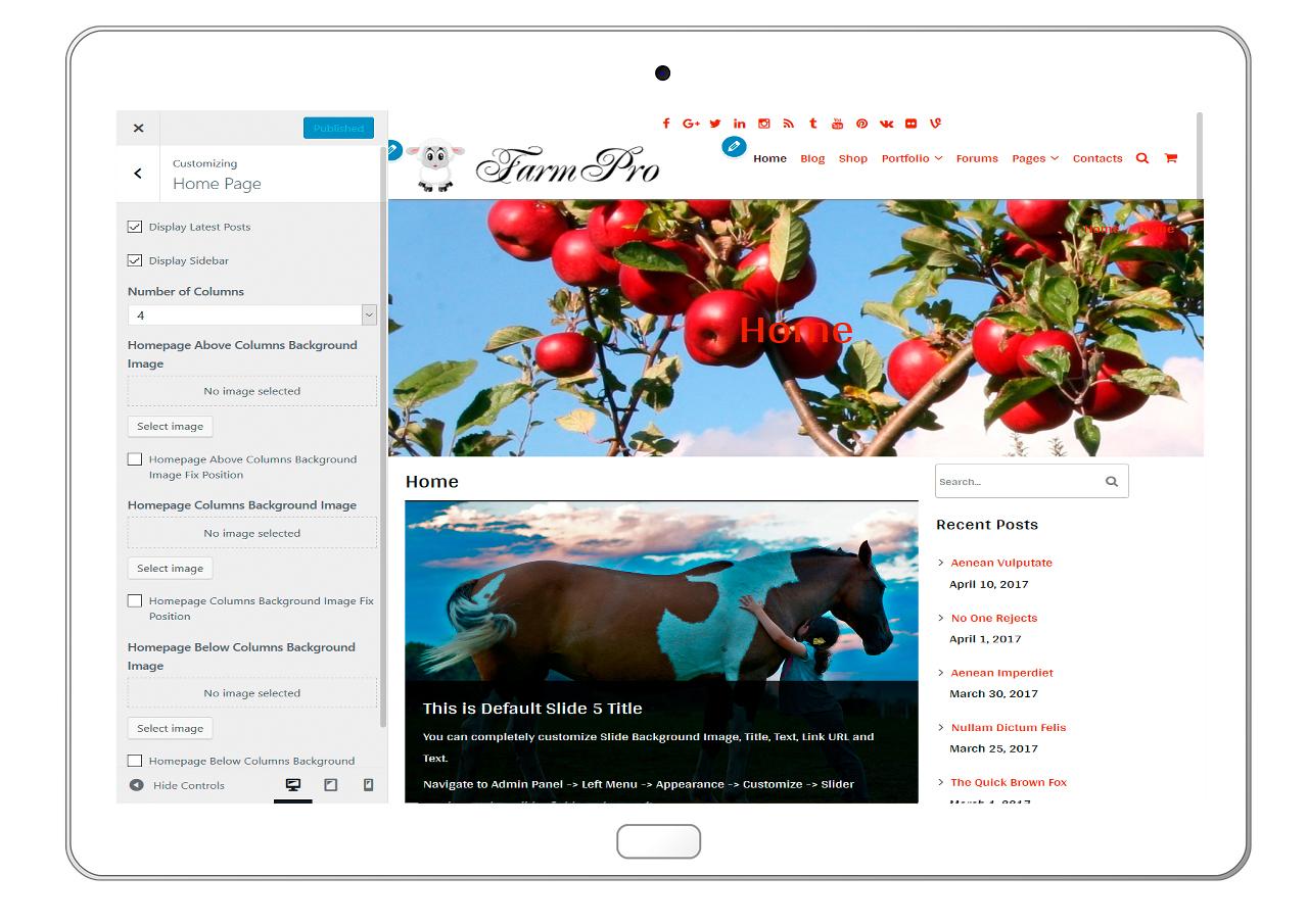 FarmPro-customizing-homepage