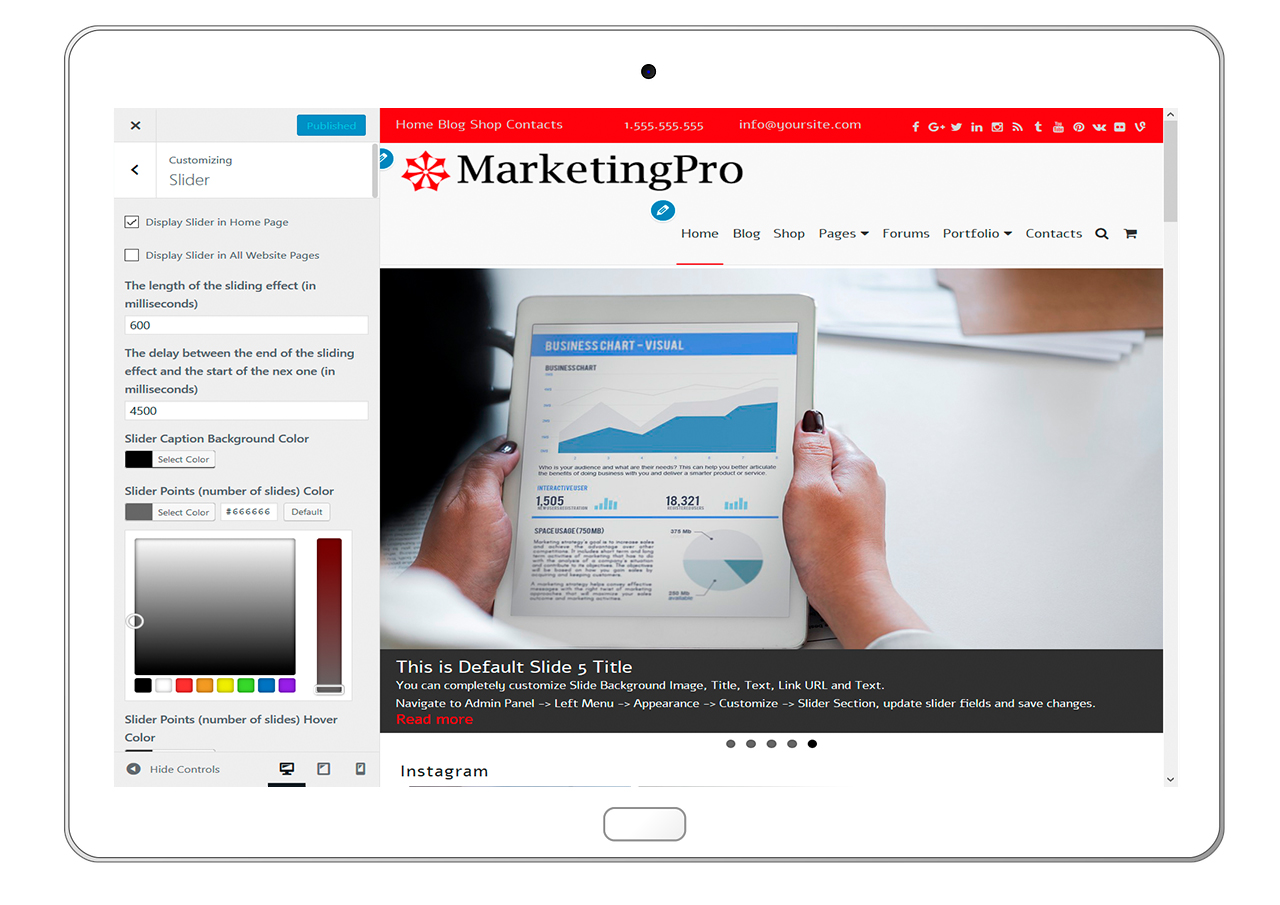 MarketingPro-customizing-Slider