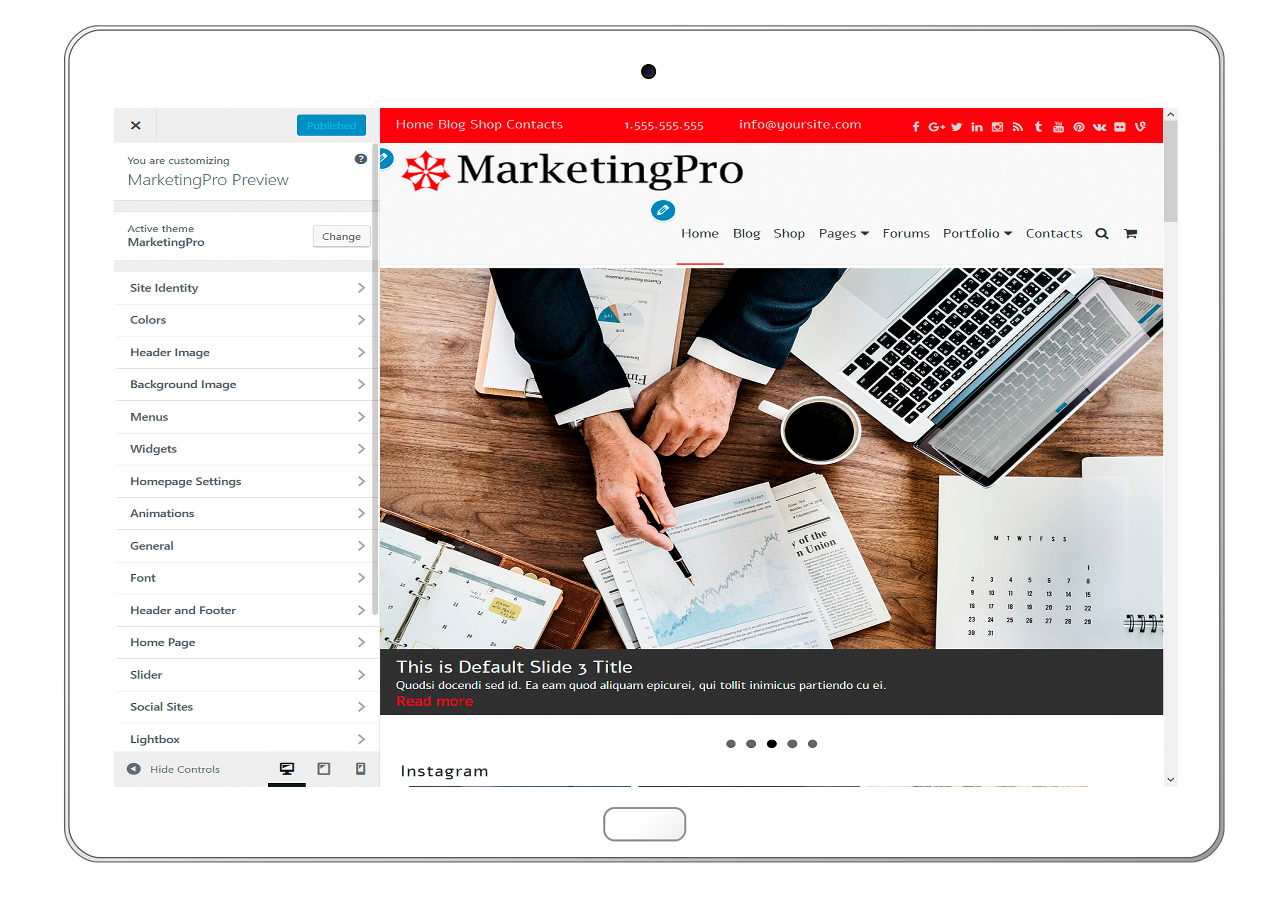 MarketingPro-customizing-all-options