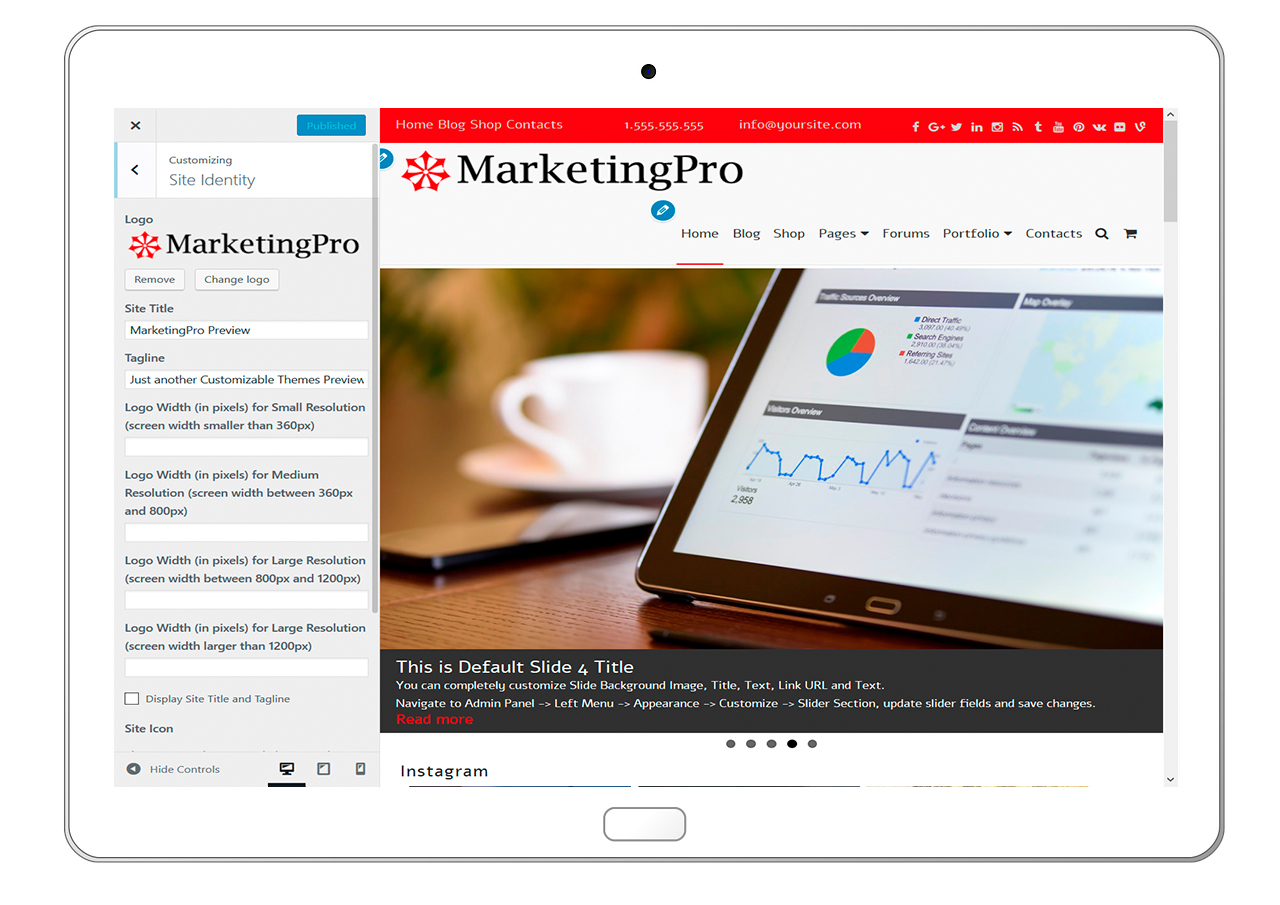 MarketingPro-customizing-site-identity