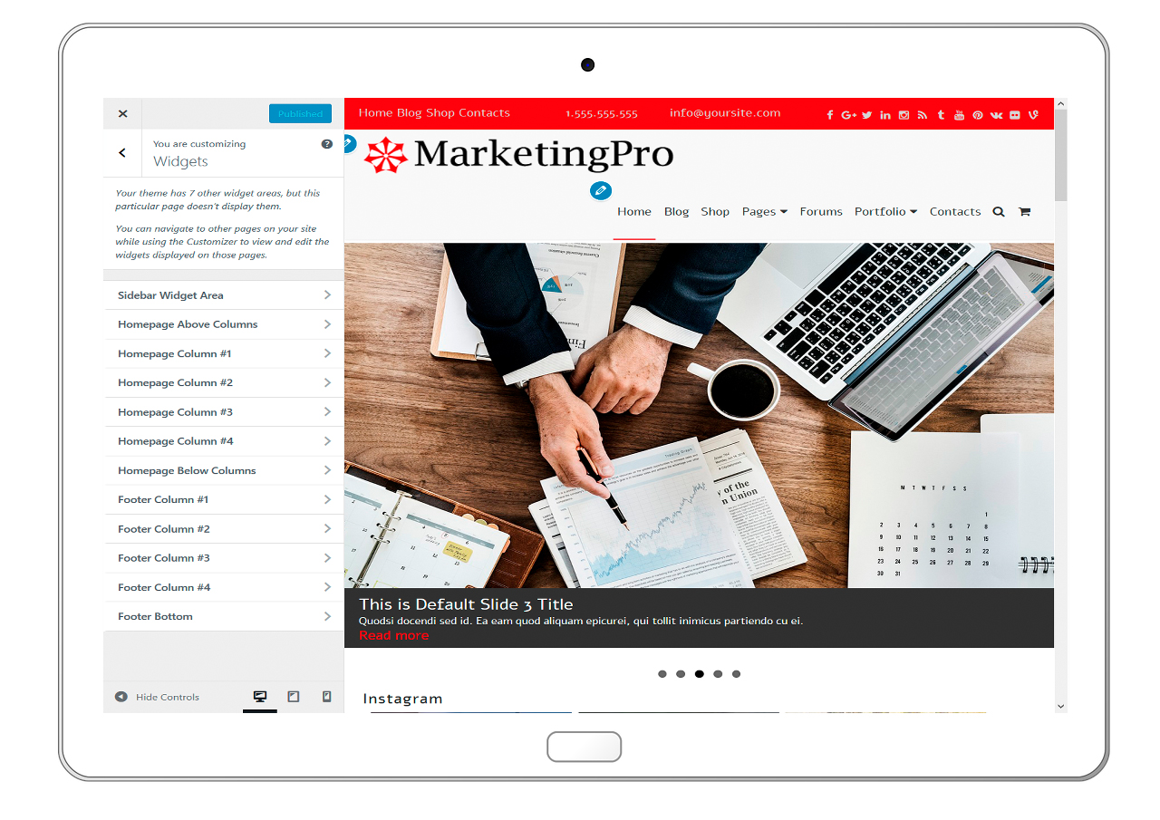 MarketingPro-customizing-widgets