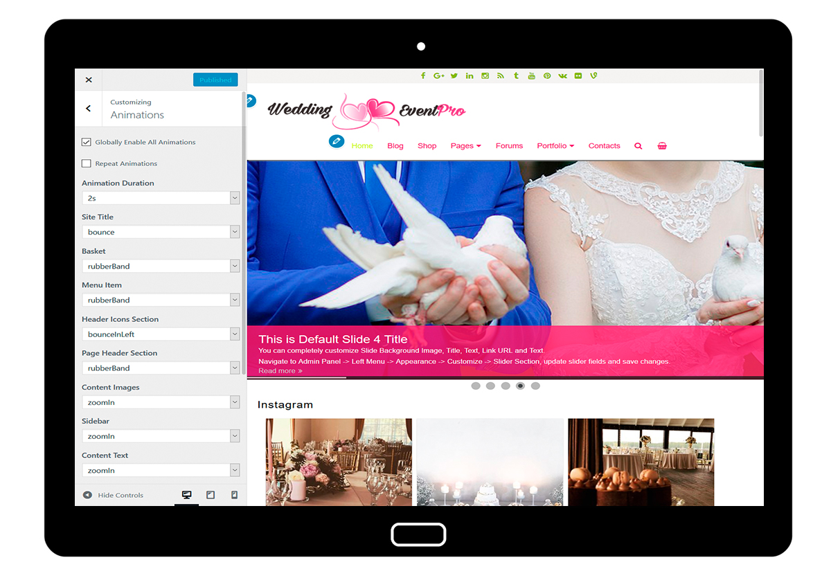 WeddingEventPro-customizing-animations