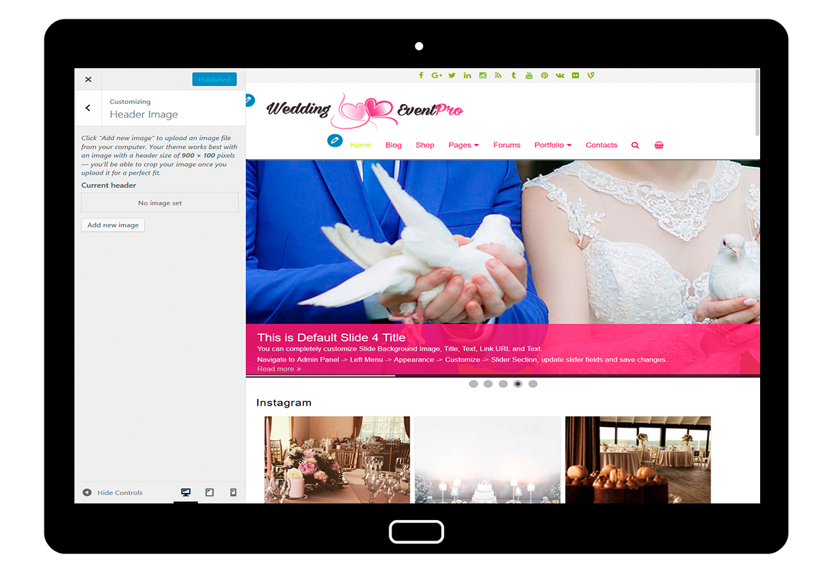 WeddingEventPro-customizing-header-image