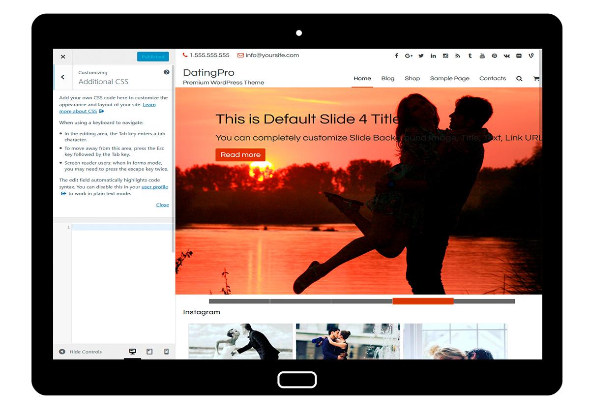 DatingPro-customizing-Additional-CSS