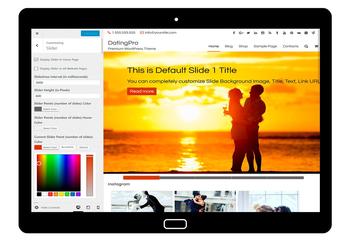 DatingPro-customizing-slider