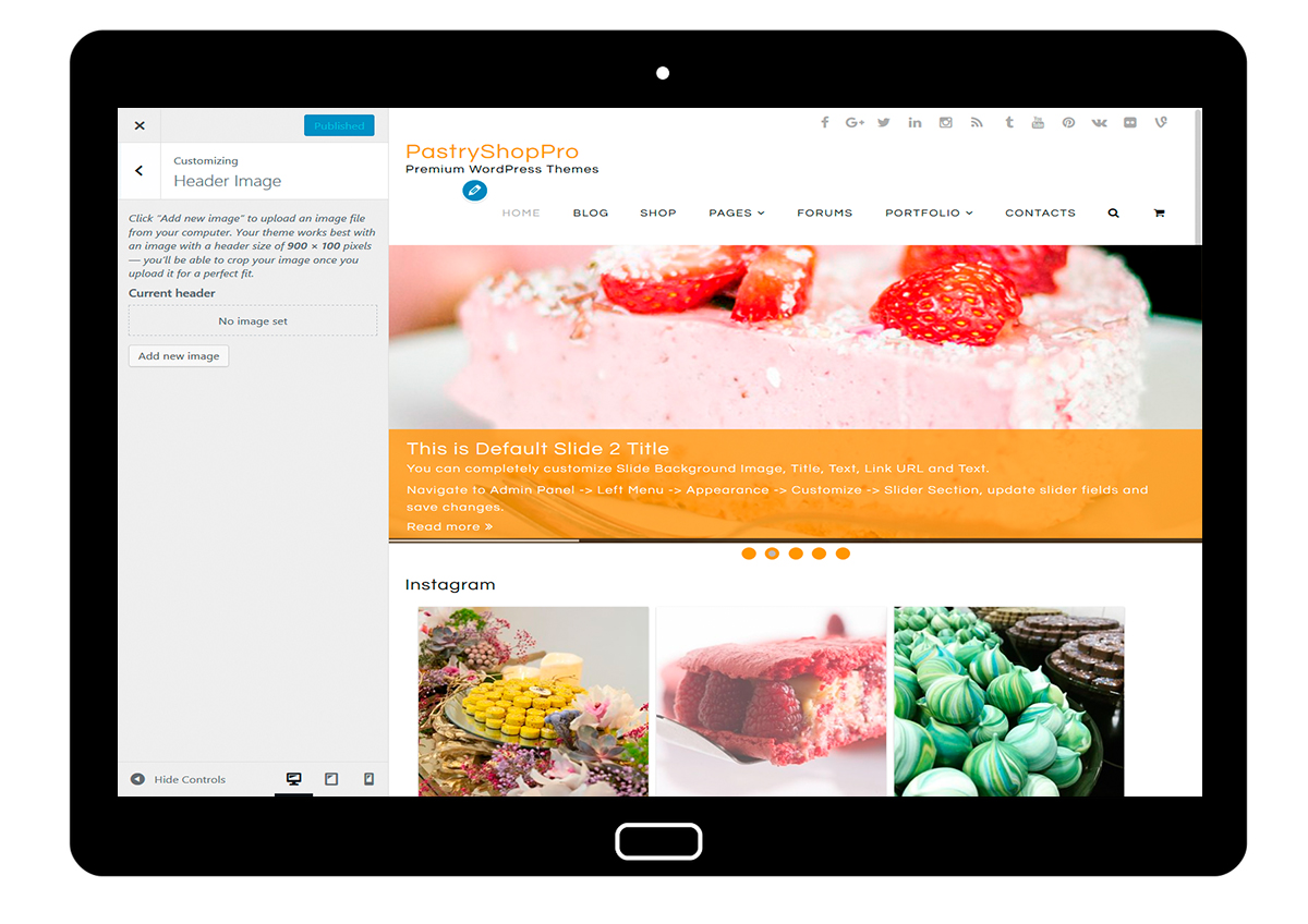 PastryShopPro-customizing-header-image