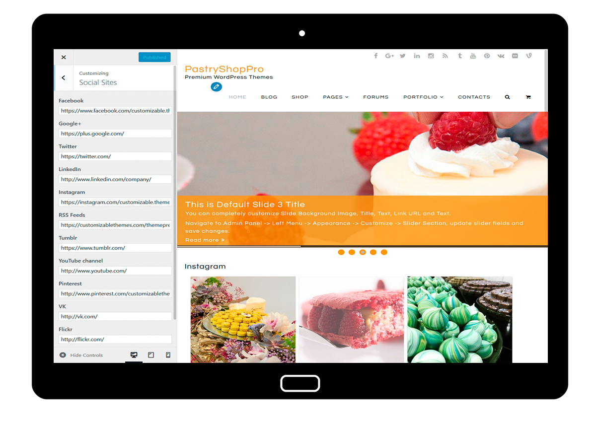 PastryShopPro-customizing-social-sites